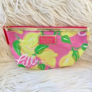 Lily Pulitzer Lemon Make Up Cosmetic Bag NWOT